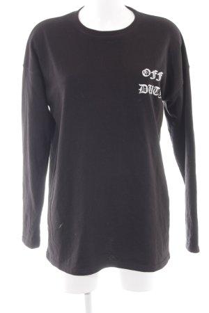 Missguided Vestido de tela de sudadera negro letras impresas look casual