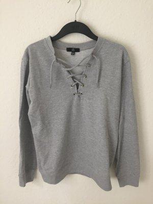 Missguided Sweatshirt mit Schnürung Grau