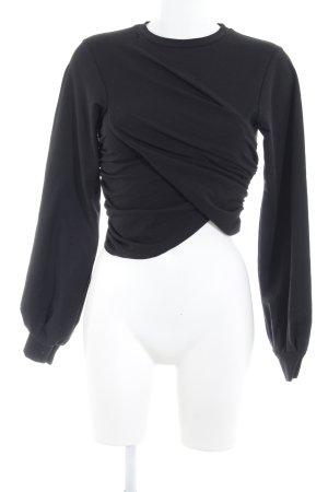 Missguided Sweatshirt schwarz schlichter Stil