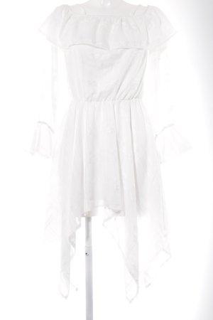 Missguided Trägerkleid weiß grafisches Muster Casual-Look