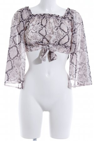 Missguided Tunikabluse schwarz-altrosa Animalmuster Party-Look