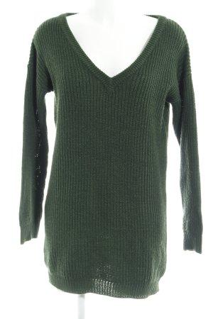 Missguided V-Ausschnitt-Pullover mehrfarbig Casual-Look