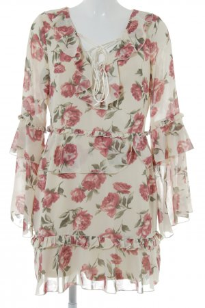 Missguided Flounce Dress flower pattern romantic style