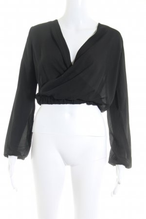 Missguided Wraparound Blouse black casual look