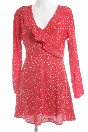 Missguided Vestido cruzado rojo-blanco Patrón de estrellas estilo romántico