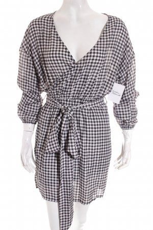 Missguided Wraparound black-white Vichy check pattern street-fashion look