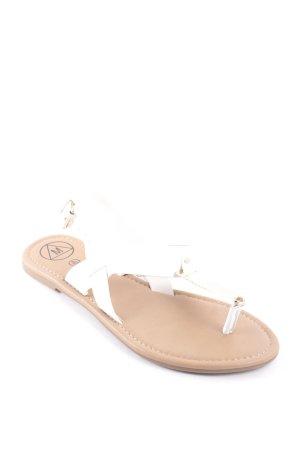 Missguided Zehentrenner-Sandalen weiß klassischer Stil