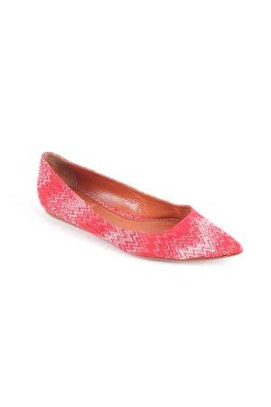 Missoni Bailarinas rojo-blanco estampado de zigzag estilo extravagante