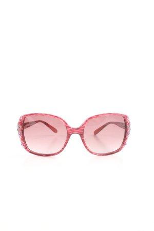 Missoni Butterfly Brille pink-weiß abstraktes Muster extravaganter Stil