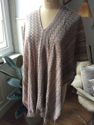 Missoni Poncho in maglia multicolore Tessuto misto