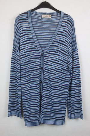 Missoni Cardigan Strickcardigan Gr. M blau lila gestreift (18/2/490)