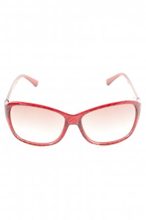 Missoni eckige Sonnenbrille rot-schwarz Animalmuster Casual-Look