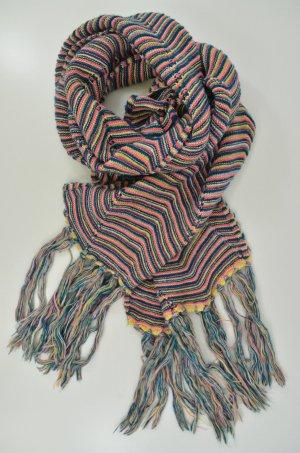 Missoni Gebreide sjaal veelkleurig Wol