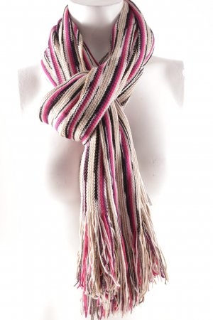 Missoni Fringed Scarf striped pattern casual look