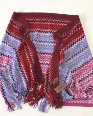 Missoni fröhlich gesteifter sommerlicher  XL Schal Tuch Poncho