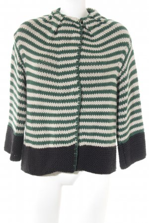 Missoni Coarse Knitted Jacket striped pattern casual look