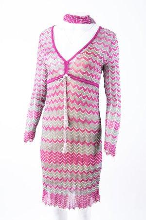 MISSONI - Häkelkleid mit Schal Pink, Grün, Beige