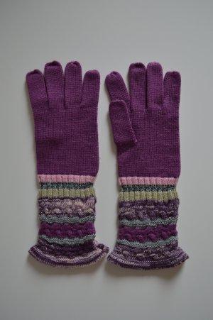 Missoni Handschuhe Strick lila Gr. S