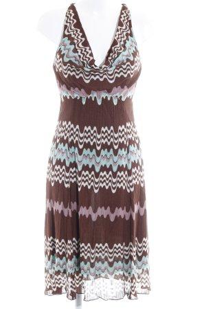 Missoni Jerseykleid abstraktes Muster Boho-Look