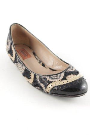 Missoni Patent Leather Ballerinas black-cream elegant