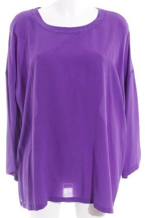 Missoni Langarm-Bluse lila Elegant