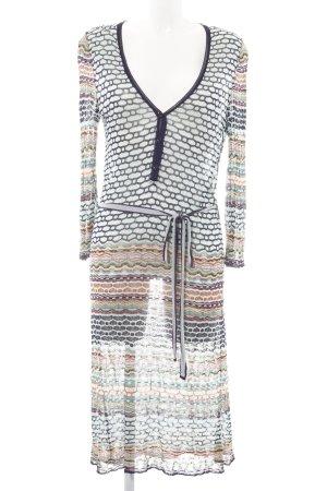 Missoni Langarmkleid abstraktes Muster Street-Fashion-Look