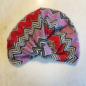 Missoni Mare Kopftuch Turban von Missoni Lila und Rot Zickzack Muster