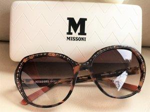 * MISSONI *  NEU ! Sonnenbrille Strass braun meliert Original BOX + Staubtuch