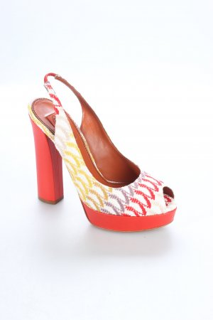Missoni Peeptoe Pumps Zackenmuster Beach-Look
