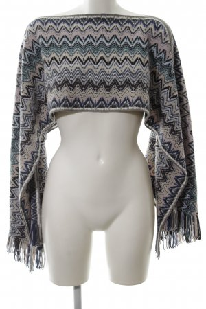 Missoni Poncho allover print casual look