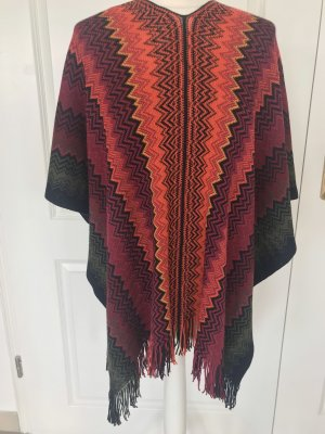 Missoni Knitted Poncho multicolored
