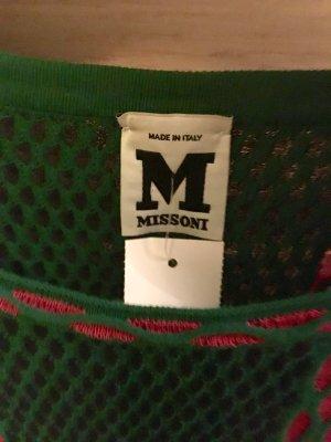 Missoni Pullover in grüne Farbe mit Pinke und schwarze Streifen