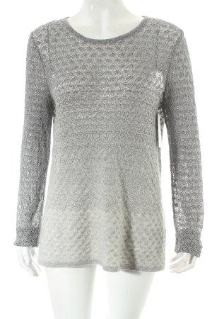 Missoni Pullover silberfarben-wollweiß Farbverlauf Casual-Look