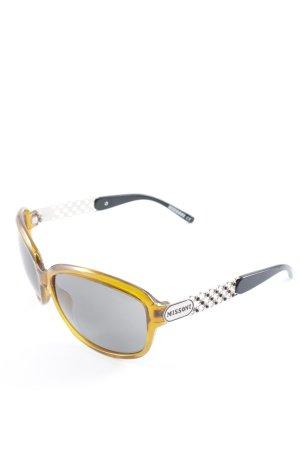 Missoni Retro Brille goldorange klassischer Stil