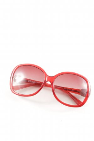 Missoni runde Sonnenbrille rot Casual-Look
