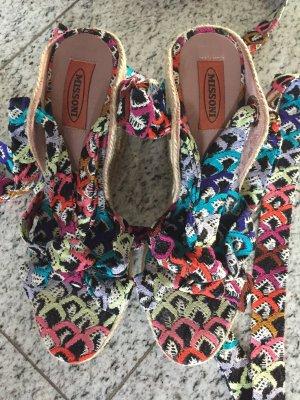 Missoni Sandale zum binden bunt