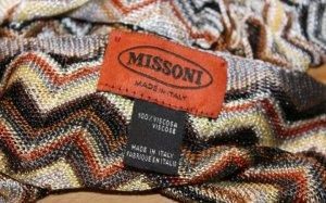 Missoni Bufanda marrón-beige claro Viscosa