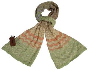 Missoni Écharpe en tricot multicolore coton