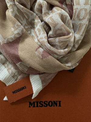 Missoni Écharpe or rose-blanc