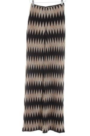 Missoni Pantalón de campana negro-blanco puro estampado gráfico elegante