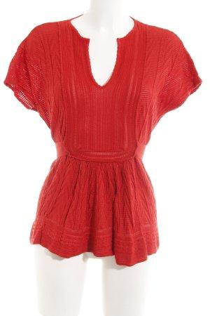 Missoni Shirt Tunic red weave pattern Boho look