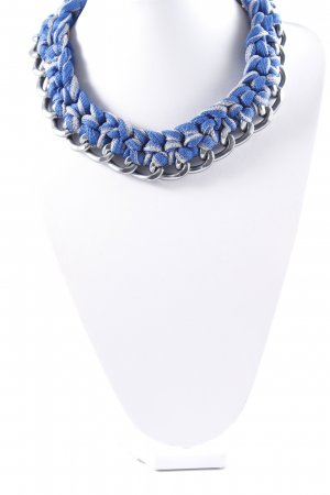 Missoni Statement Necklace blue-silver-colored street-fashion look