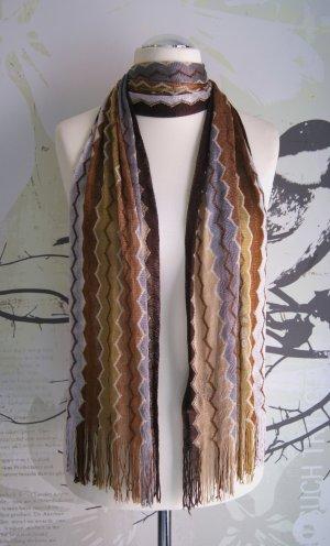 Missoni Strick-Schal, Tuch, Fransen, ZickZack-Muster, multicolor, 190 x 32 cm