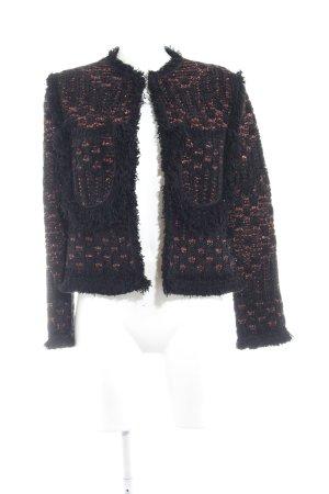 Missoni Strickjacke schwarz-dunkelorange extravaganter Stil