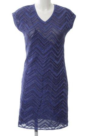 Missoni Strickkleid blau-schwarz grafisches Muster Elegant