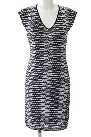 Missoni Strickkleid schwarz-weiß abstraktes Muster Business-Look