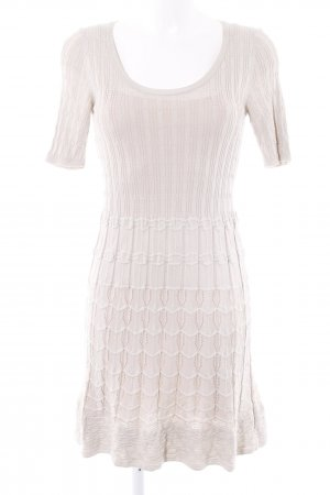 Missoni Strickkleid beige Webmuster Casual-Look