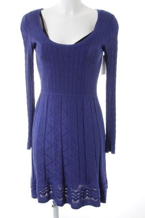 Missoni Abito di maglia blu motivo a zig-zag stile casual
