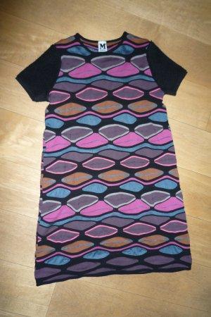 Missoni Strickkleid Gr.34 , Missoni-Muster bllau, schwarz,taupe,pink top-Zustand