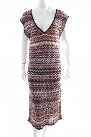 Missoni Strickkleid grafisches Muster Glitzer-Optik